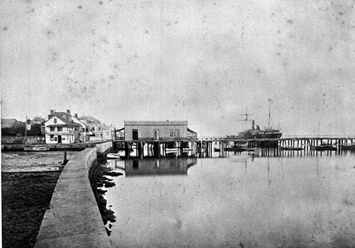 Historic picture of Saint Augustine Seawall