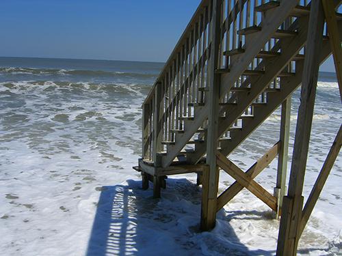 Vilano Beach erosion picture