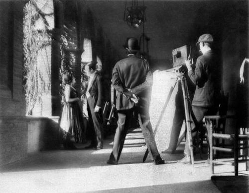 Historic picture of movie making in Ponce de Leon