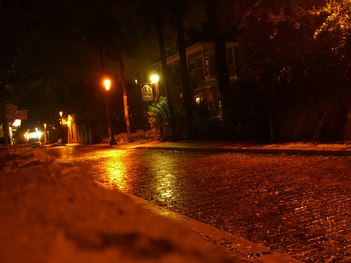 Picture of Charlotte St in Saint Augustine at night