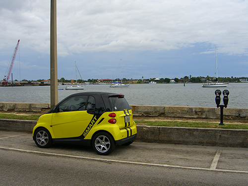 Smart Car downtown saint augustine