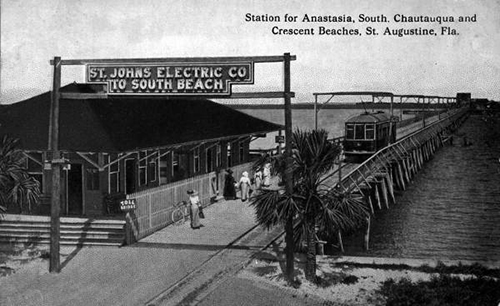 St. Johns Electric Company Station to Beaches Historic Photo