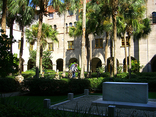 Lightner Museum Courtyard Photo and Grave