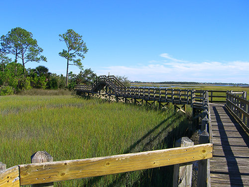 Hospital Boardwalk View of Intracoastal Picture