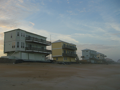 Vilano Beach Erosion Homes