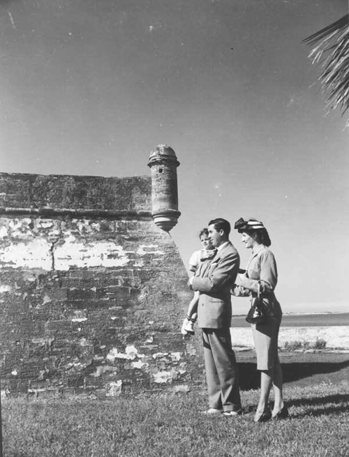 Picture of John A. Lombard Family at Castillo de San Marcos