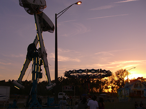 Picture of Harvest of Hope Fest Carnival Sunset