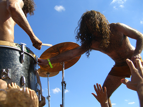 Pictures of Monotonix at Harvest of Hope Fest