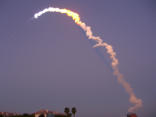 Titusville Shuttle Launch Photo