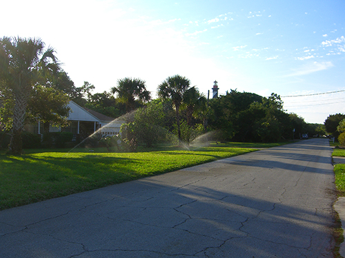Lew Blvd Sprinklers Photo