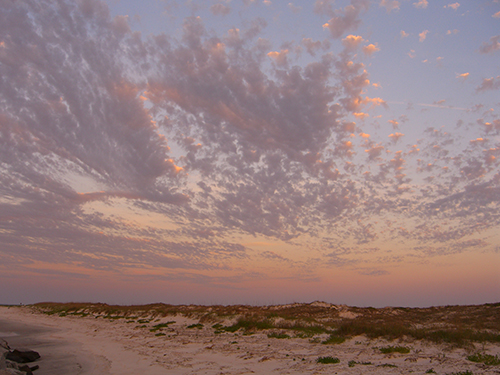 Anastasia Island Clouds at Sunset Photo