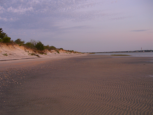 Secluded Beach Evening Photo