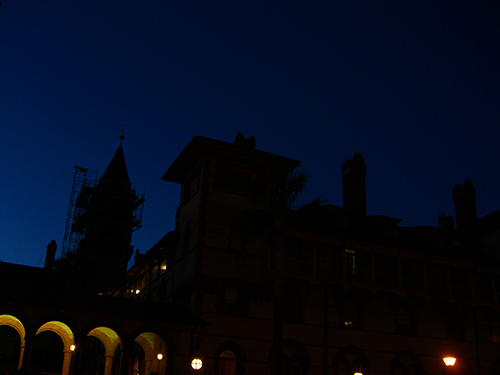 Nightime at Flagler College Picture