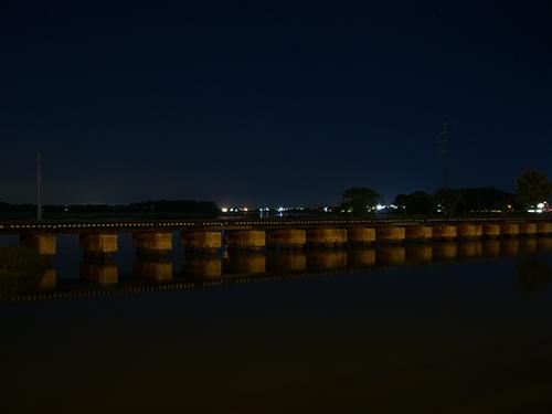 San Sebastian River at Night Photo