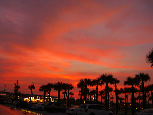 Pier Lot Sunset Photo