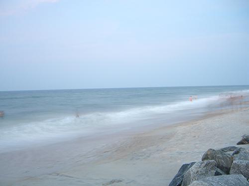 Evening Beach Motion Blur Picture