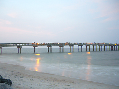 Pier in the Evening Photo
