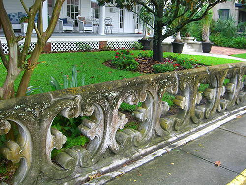 Intricate Stone Fence Picture
