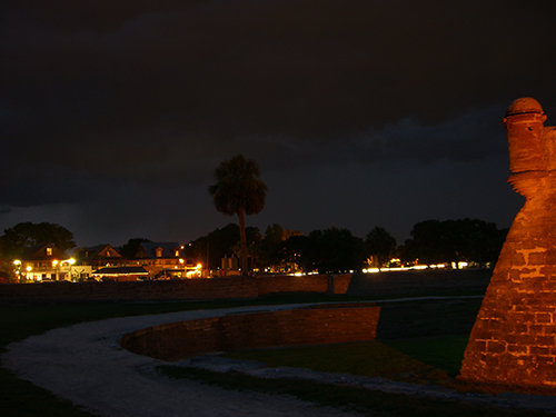 Storm Rolls in on Fort Picture