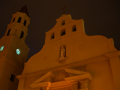 Cathedral Basilica at Night Photo