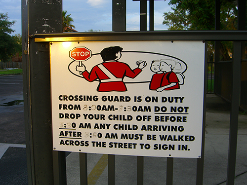 Crossing Guard Sign Picture