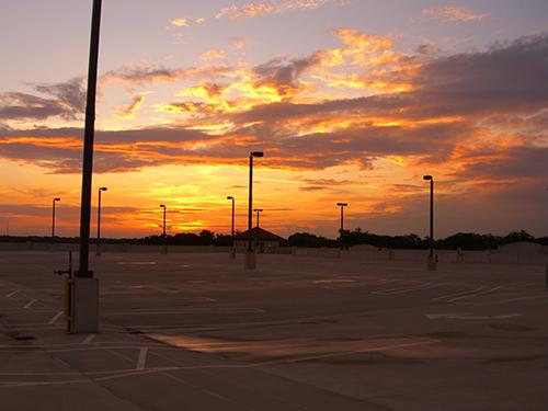 Parking Garage Sunset Picture