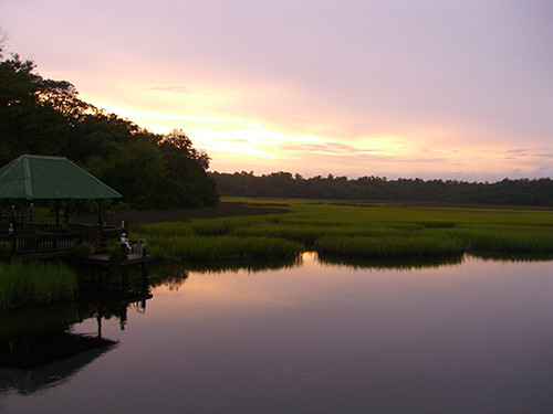Moultrie Creek Dock Sunset Picture