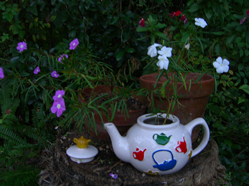 Flower Tea Pot Picture