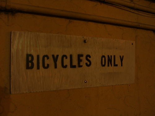 VFW Bicycles Only Sign Photo