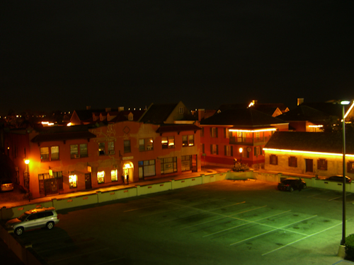 Downtown Nighttime Parking Lot Photo