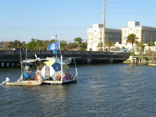 Earthball Boat in St. Augustine Picture
