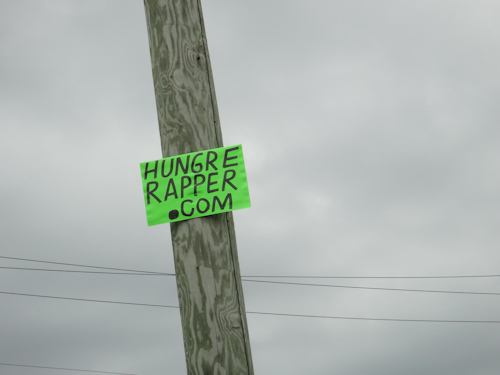 Hungre Rapper Sign Picture