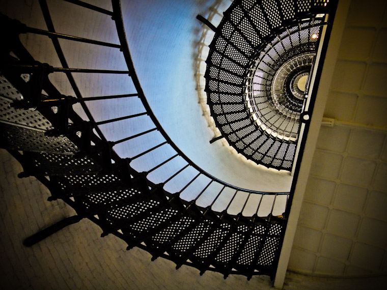 Photo of St Augustine Lighthouse Stairs from below