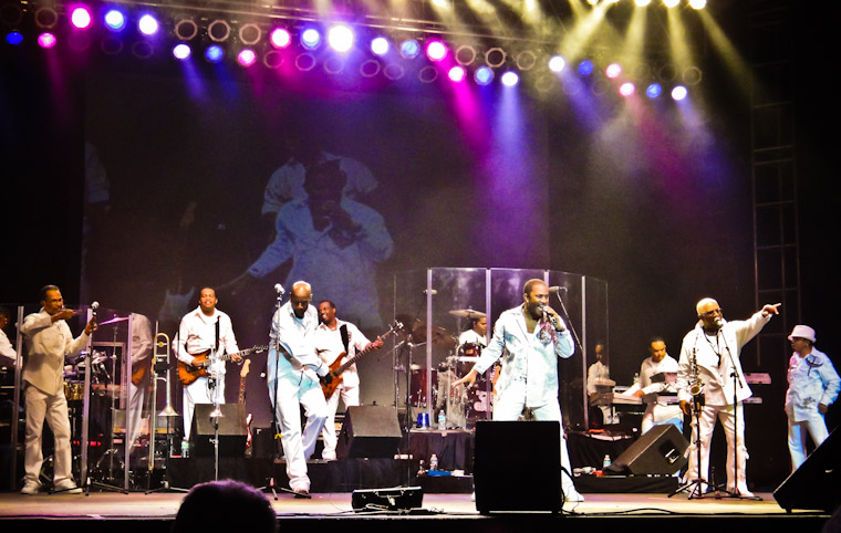 Pictures of Kool & the Gang at Lincolnville Festival in St. Augustine Florida