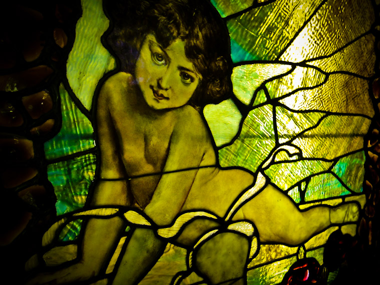 Photo of Cherub Window at Lightner Museum in St Augustine Florida