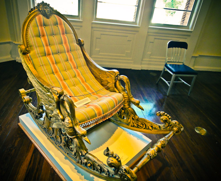 Two Chairs at the Lightner Museum in St Augustine Florida