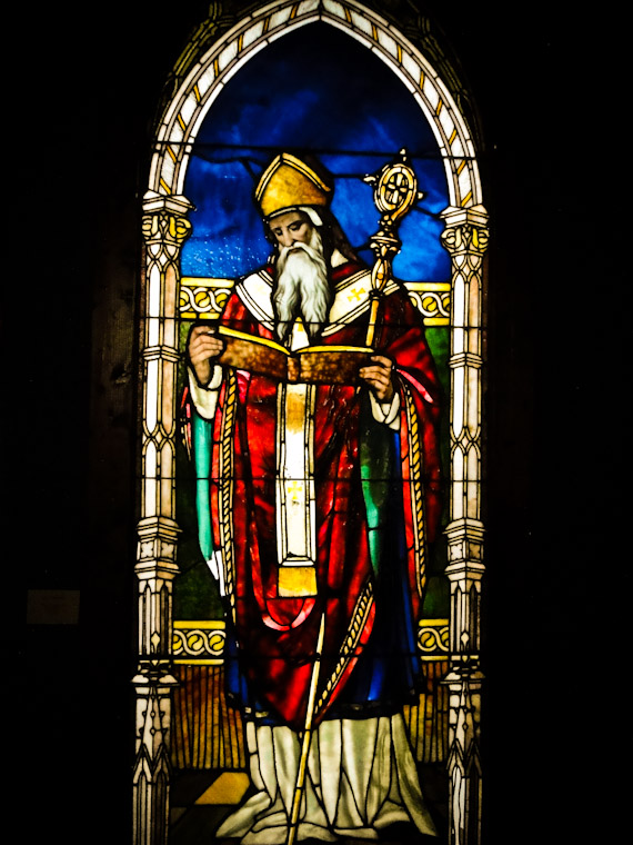 Photo of Saint Augustine Tiffany Stained Glass at the Lightner Museum in St. Augustine Florida