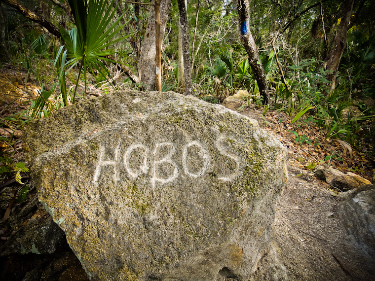 Hobos trail rock carving