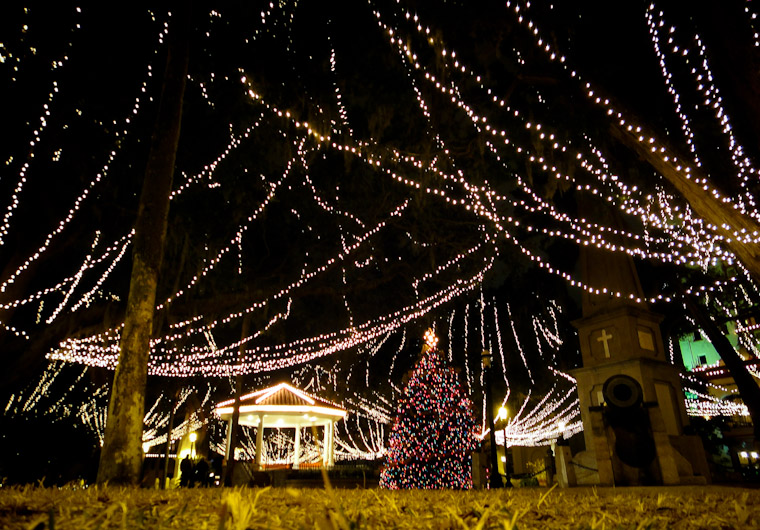 Plaza Night of Lights Picture St Augustine Florida