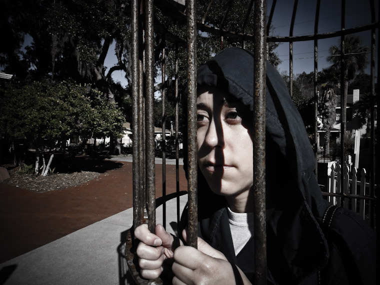 Locked up at the old prison St Augustine Florida picture