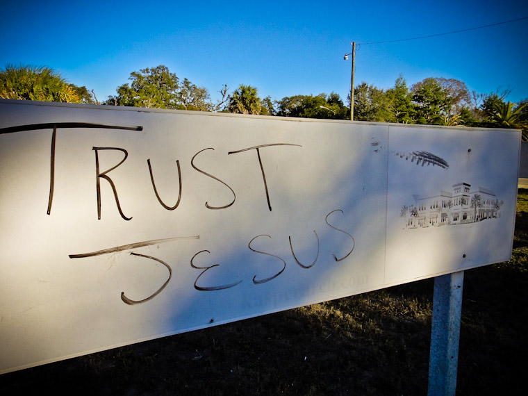 Trust Jesus Sign St Augustine Florida Picture