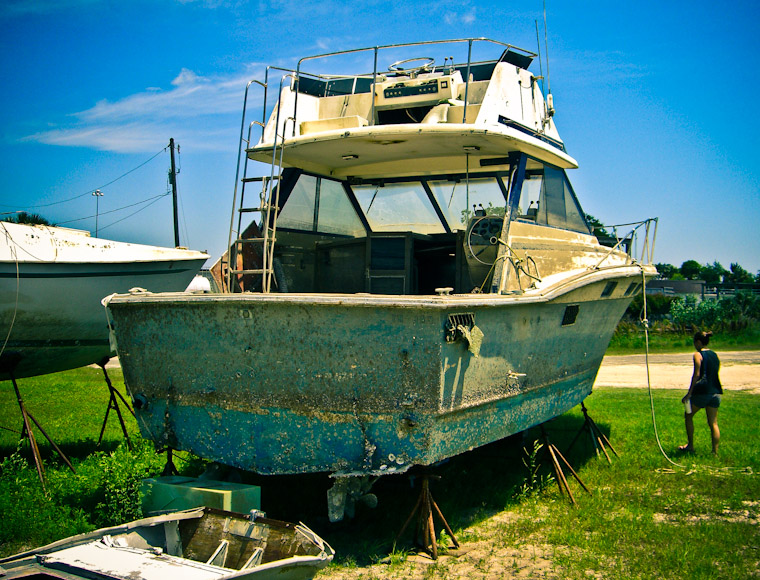 Rough Boat St Augustine Florida Photo