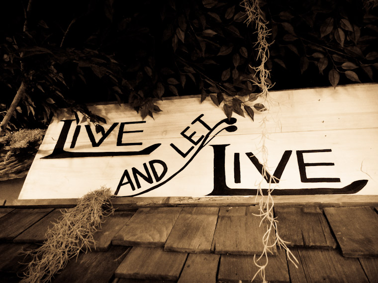 Live and Let Live Sign St Augustine Florida Photo