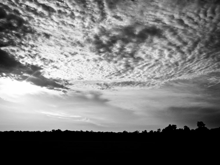 Cloudy Field Sky St Augustine Florida Picture