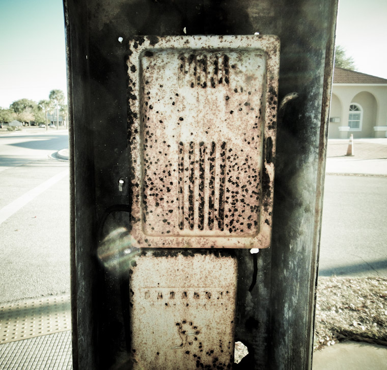 Picture of Rusty Box on Pole in St Augustine Florida