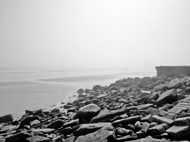 Misty Beach Morning in St Augustine Florida Picture