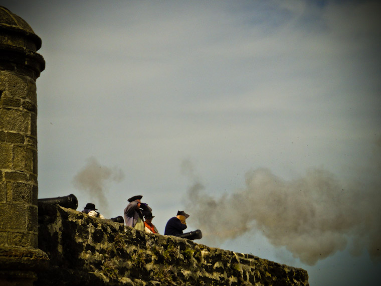 Photo of Fort Matanzas Cannon Fire St Augustine Florida