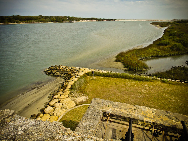 Intracoastal From Fort Matanzas Top Photo in St Augustine Florida