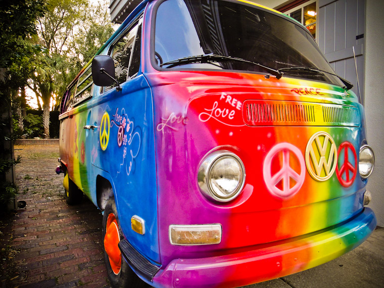 Free Love Bus St Augustine Florida Picture