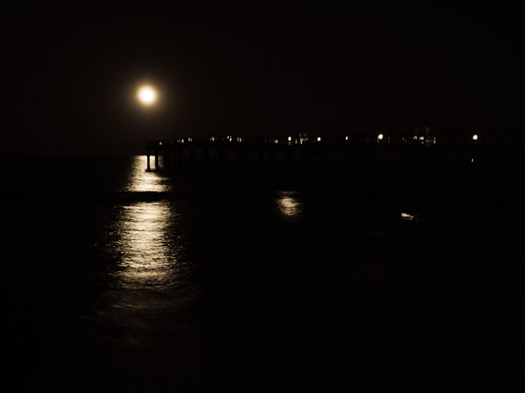 Pier Supermoon St Augustine Florida Photo